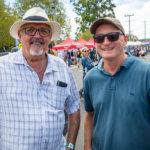 Stanthorpe Apple and Grape Festival, Steve Platt from Stanthorpe and Paul Gardiner from Brisbane.
