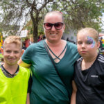 Stanthorpe Apple and Grape Festival, Andrew Traplin, Kirsty and Jemma Irwin from Stanthorpe.
