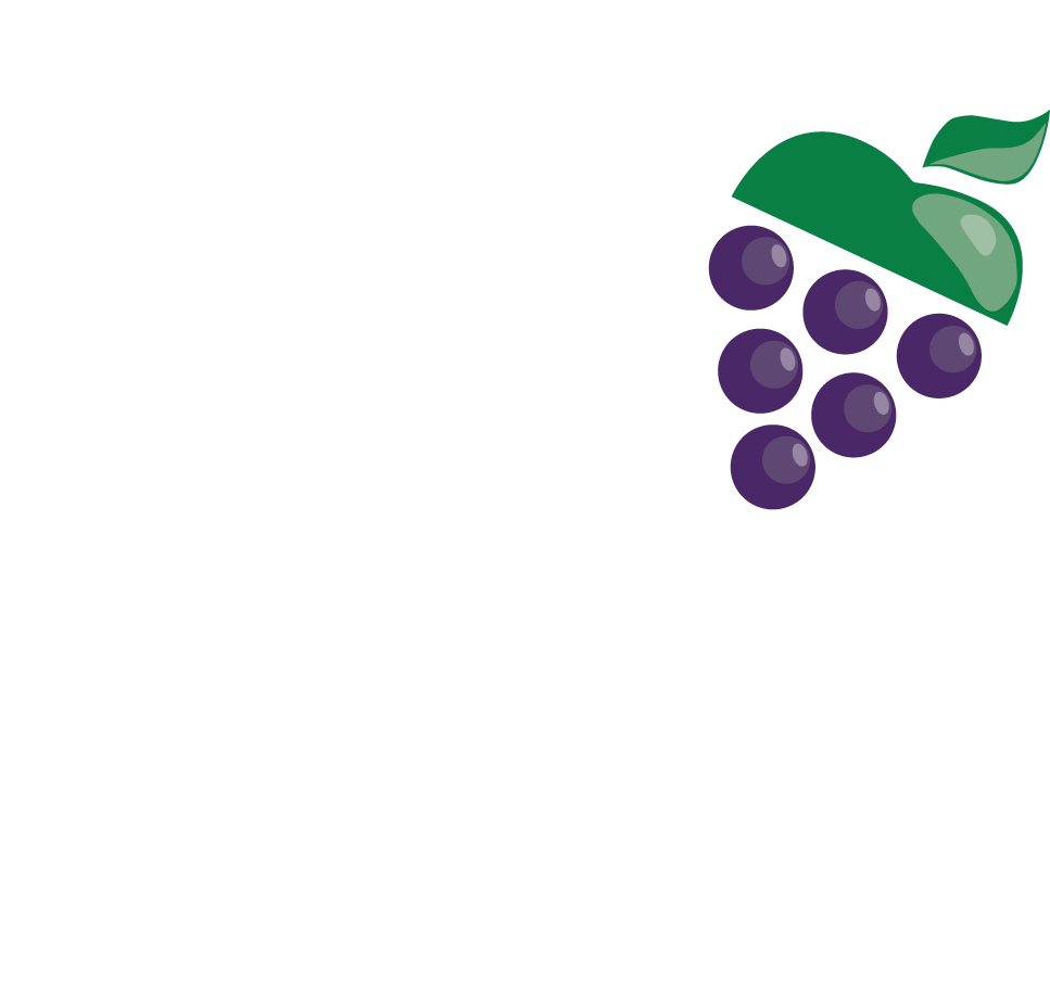 AGHF Logo White with coloured grapes and 2022 dates