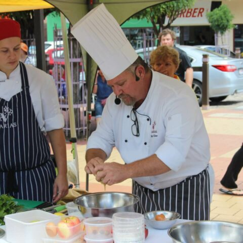 piazza cooking demonstration apple day